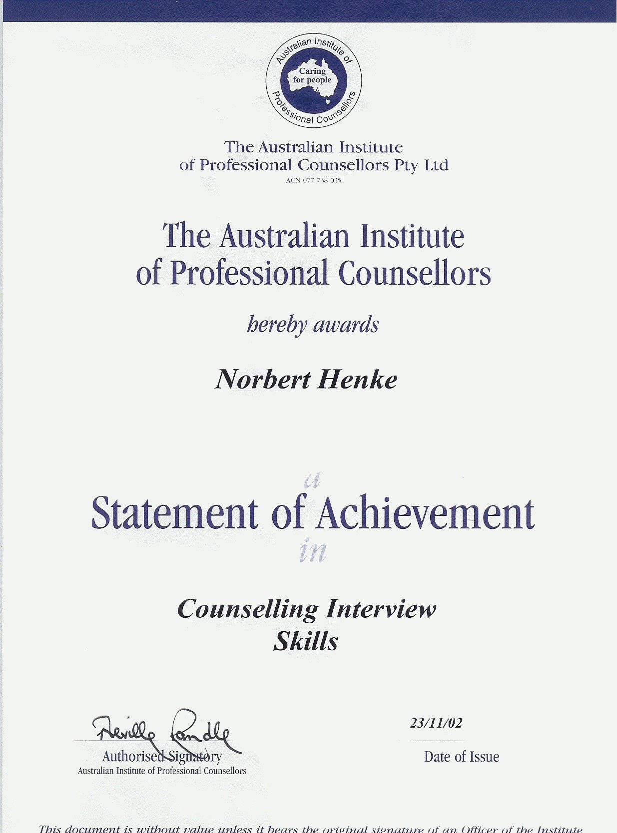 Counselling Interviews