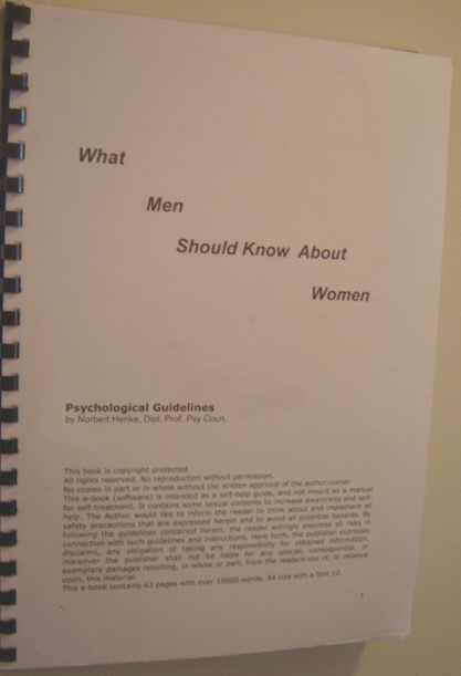 Ebook -what men should know about women